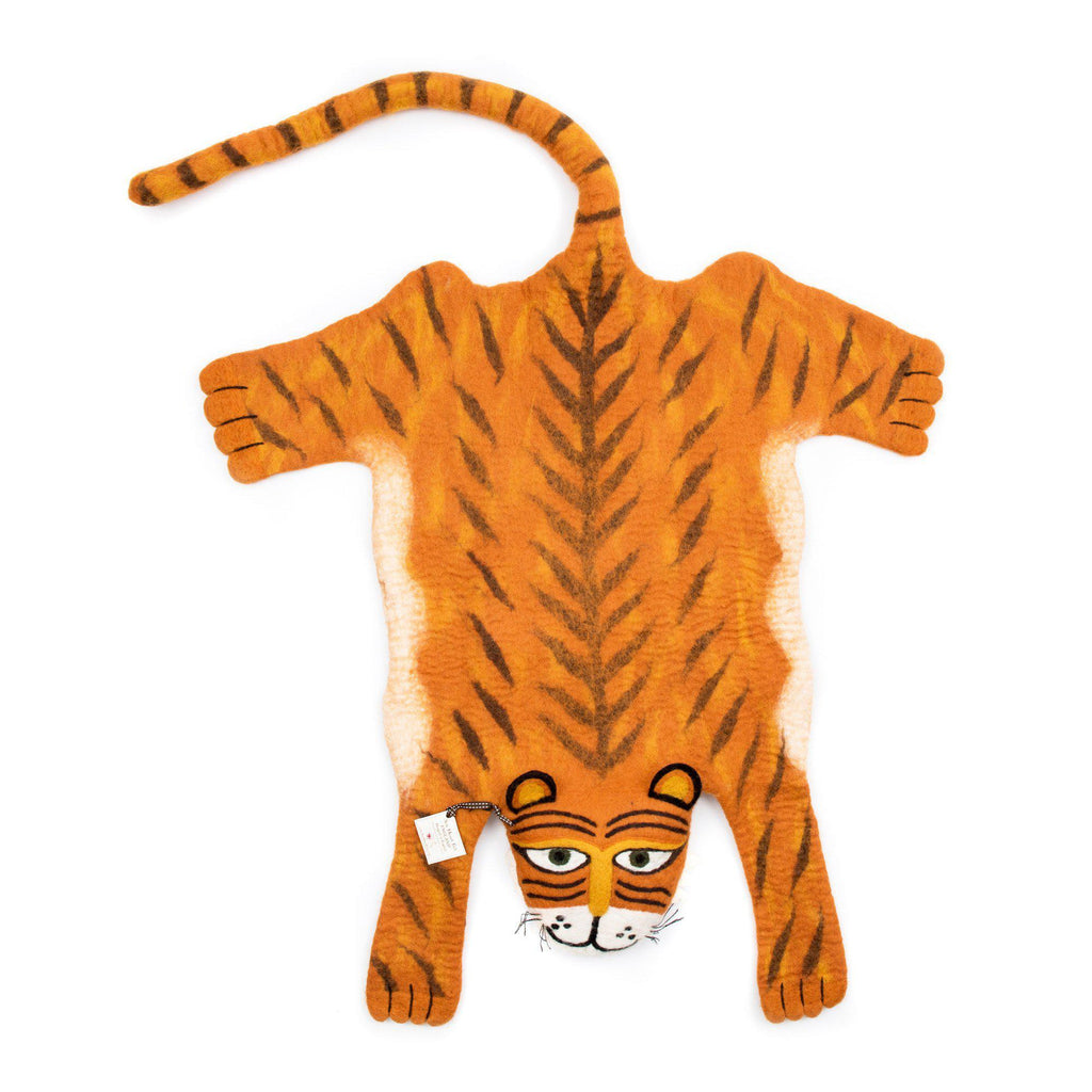 Raj The Tiger rug, made in Nepal by Sew Heart Felt and available at Bobby Rabbit.