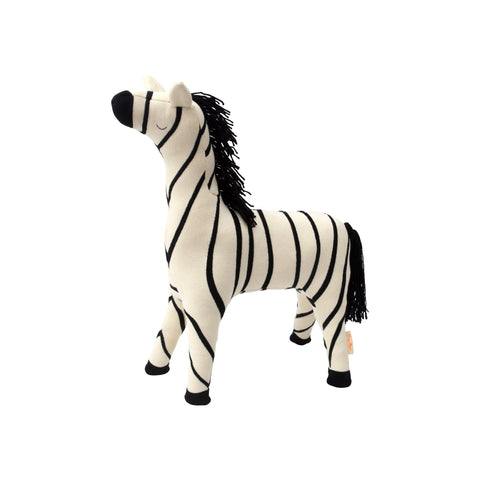 Ray Zebra toy cushion by Meri Meri, available at Bobby Rabbit.