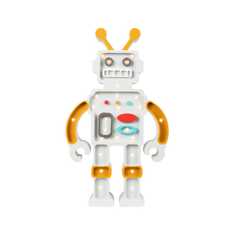 Robot Lamp by Little Lights, available at Bobby Rabbit.