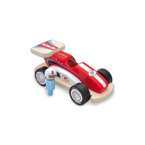 Rocky Racer Wooden Toy Racing Car by Jamm Toys, available at Bobby Rabbit.