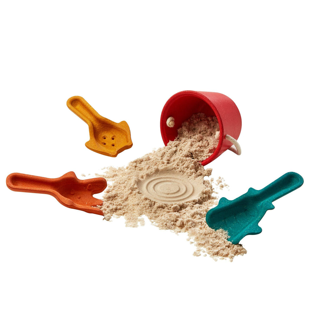 Sand Play Set by Plantoys, available at Bobby Rabbit.