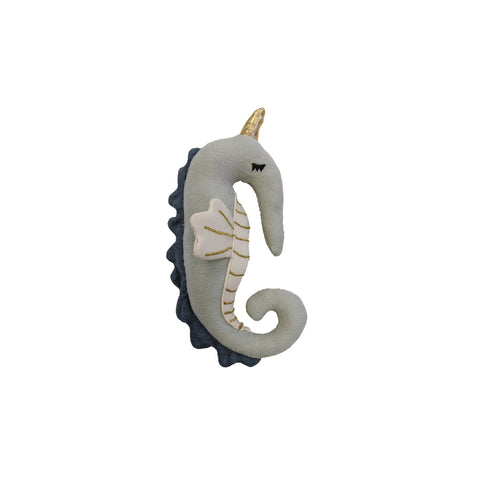 Seahorse Rattle by Fabelab, available at Bobby Rabbit.