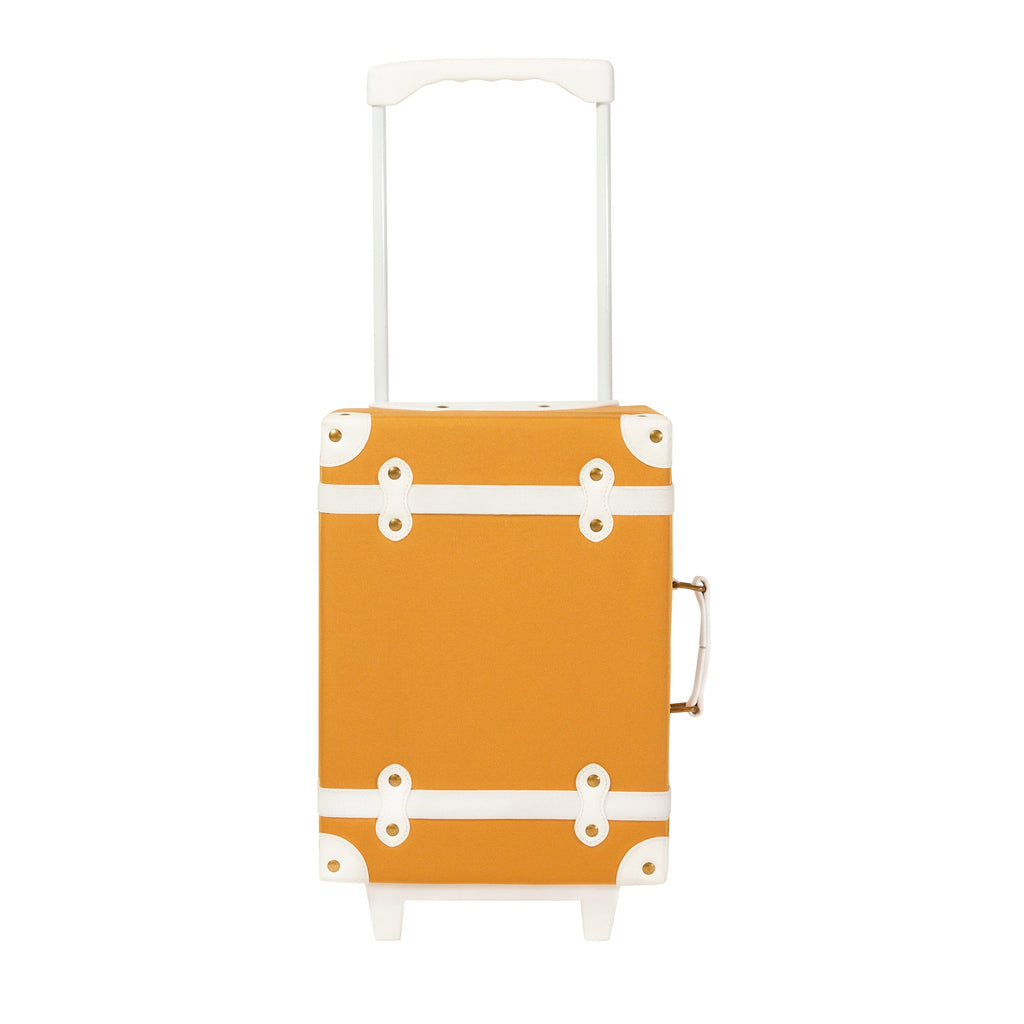 Apricot See-Ya Suitcase by Olli Ella, available at Bobby Rabbit. Free UK Delivery over £75