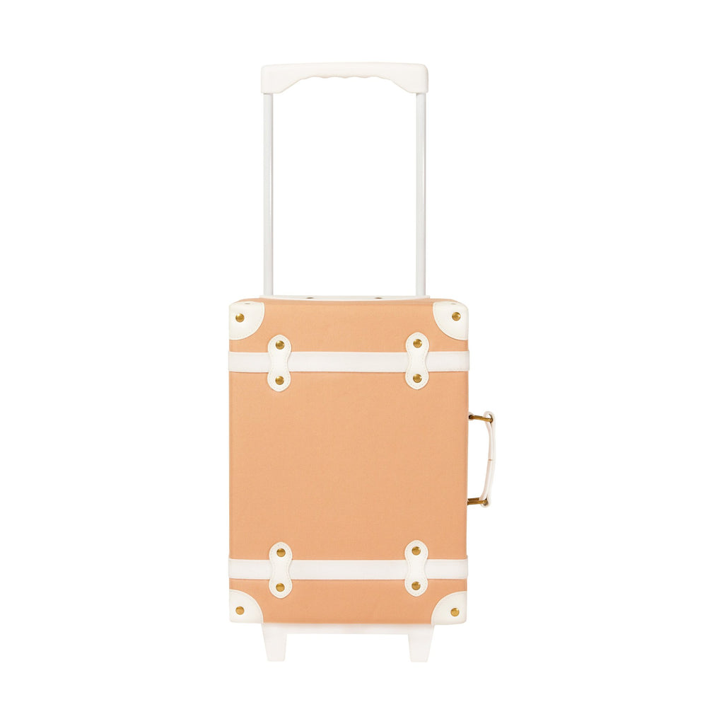 Blush See-Ya Suitcase by Olli Ella, available at Bobby Rabbit. Free UK Delivery over £75