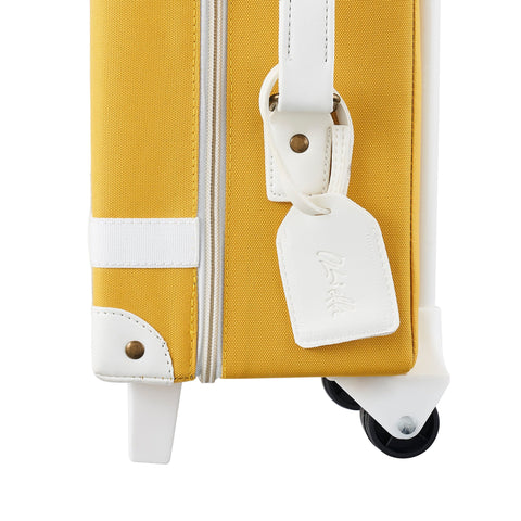Mustard See-Ya Suitcase by Olli Ella, available at Bobby Rabbit.