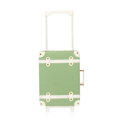 Sage See-Ya Suitcase by Olli Ella, available at Bobby Rabbit. Free UK Delivery over £75