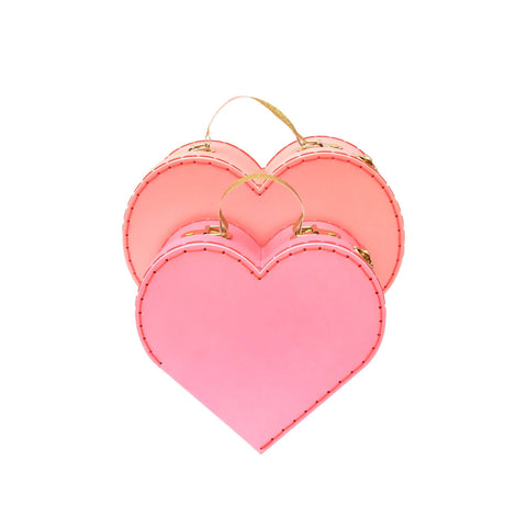 Set of 2 Heart Suitcases by Meri Meri, perfect for storing away those little treasures! Available at Bobby Rabbit.