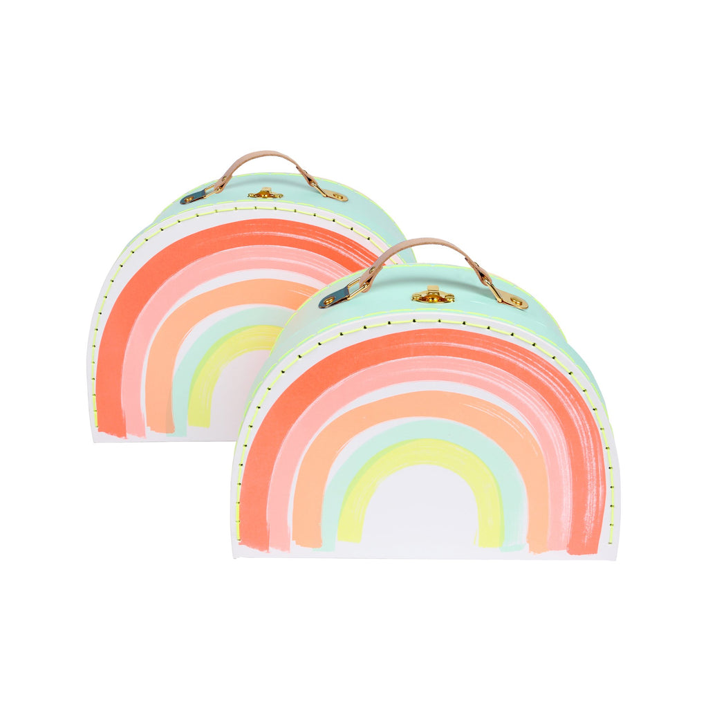 Set of 2 Rainbow Suitcases by Meri Meri, perfect for storing away those little treasures! Available at Bobby Rabbit.