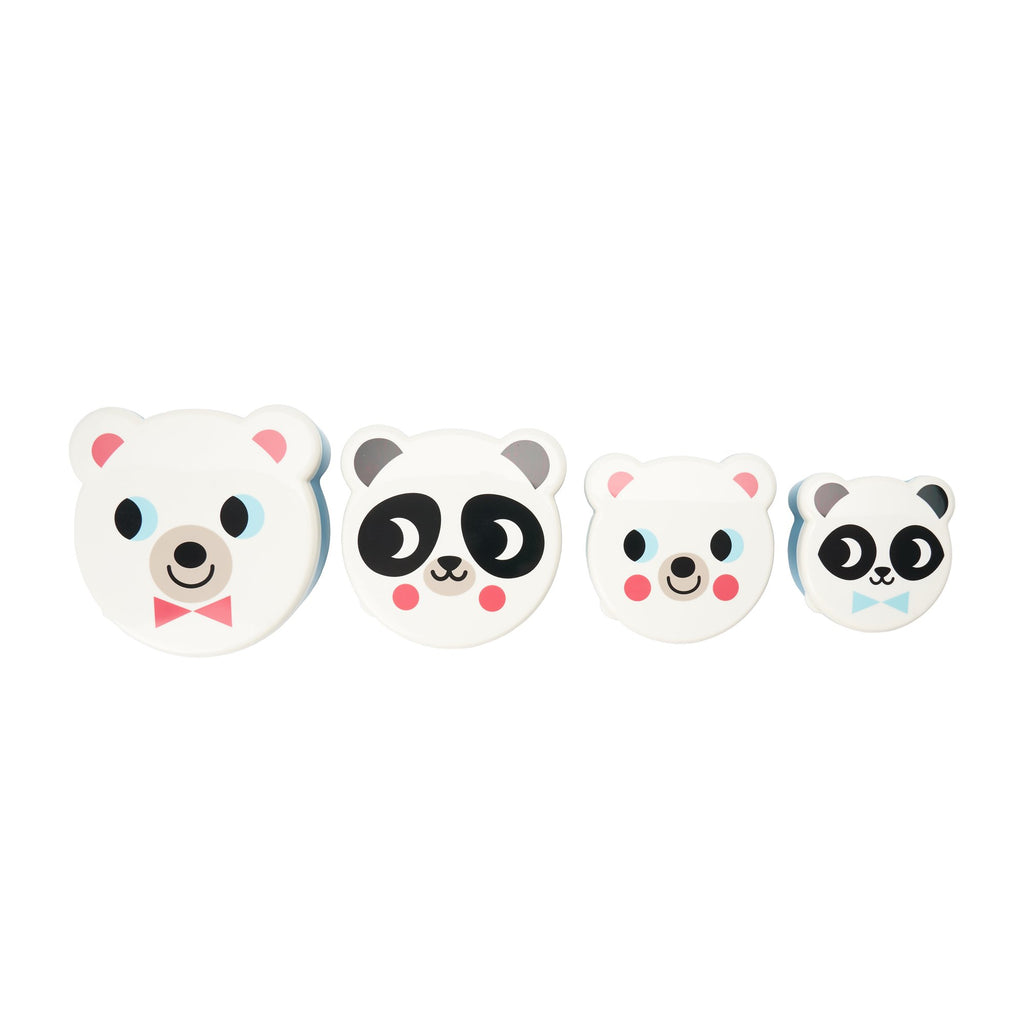 Set of 4 White Bear Snack Pots, designed by Ingela P. Arrhenius for OMM Design and available at Bobby Rabbit.