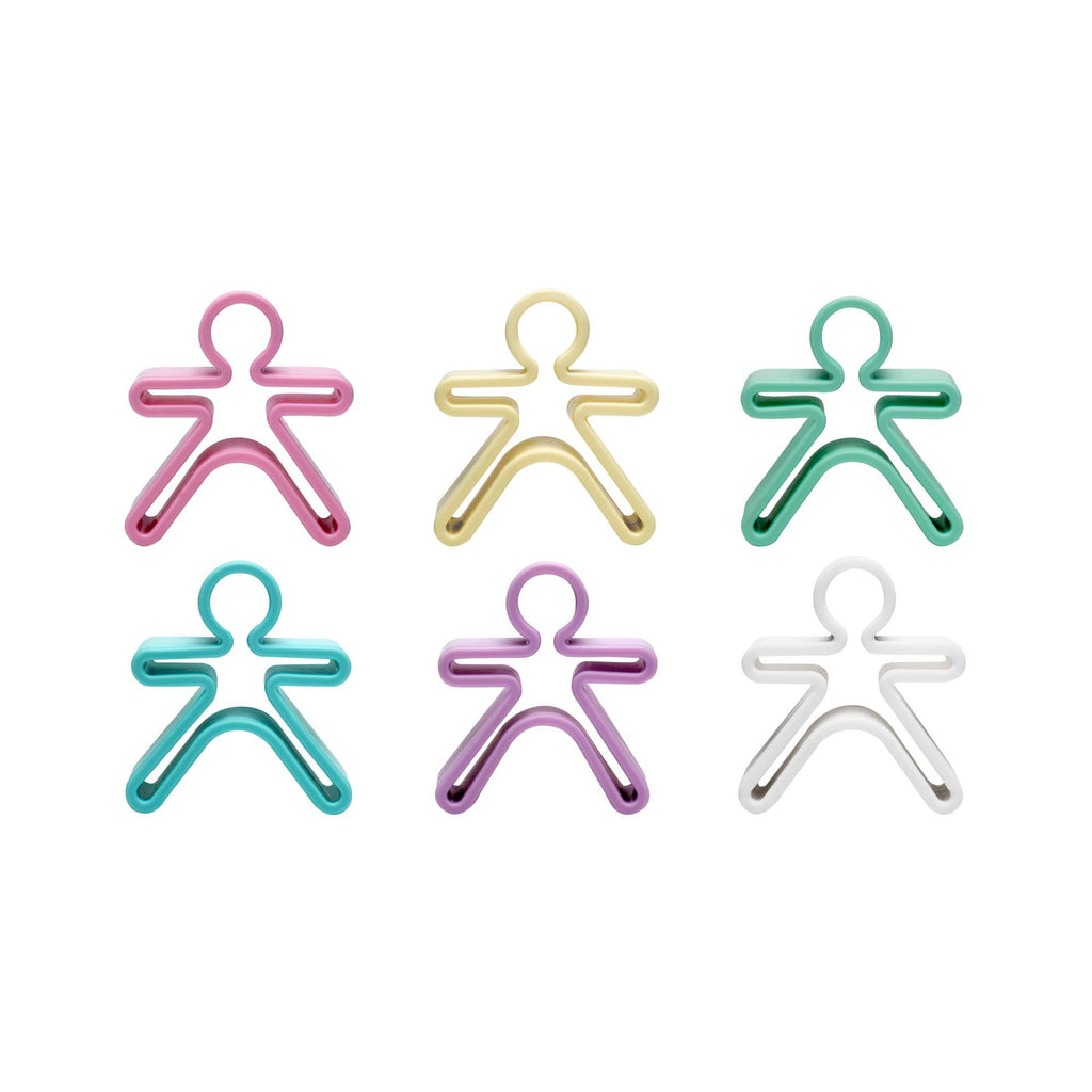 Set of 6 Silicone People Stacking Toy by Dena, available at Bobby Rabbit.