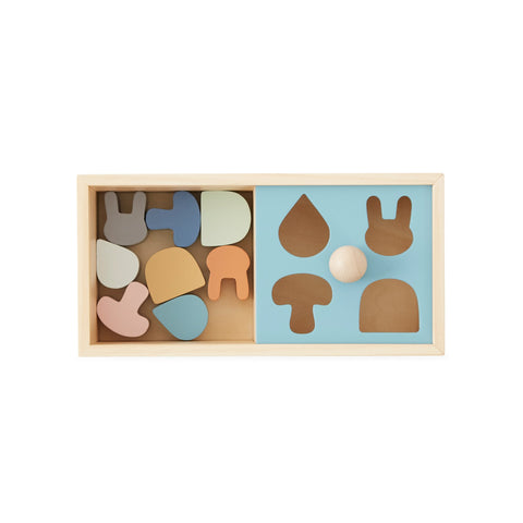 Wooden Shape Sorter Puzzle Box by Oyoy, available at Bobby Rabbit.