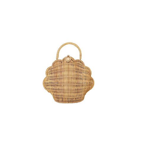 Shell Purse - Straw by Olli Ella, available at Bobby Rabbit. Free UK Delivery over £75