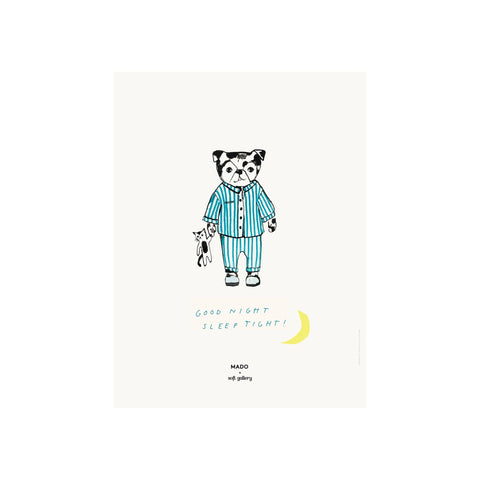 Sleep Tight print for children's rooms, designed by Soft Gallery for Mado and available at Bobby Rabbit.