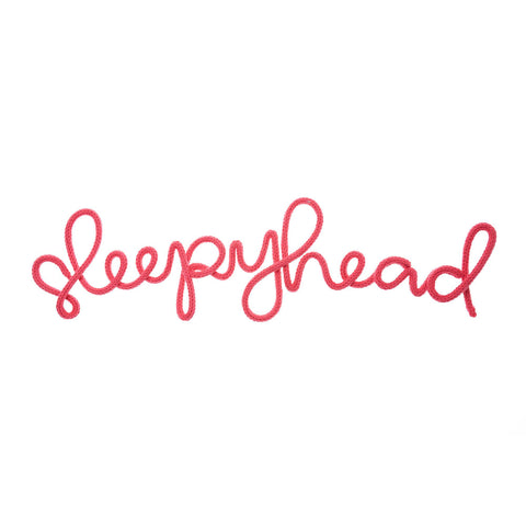 'Sleepyhead' Wall Decoration - Fuchsia Pink by Hey Kiddo, available at Bobby Rabbit.