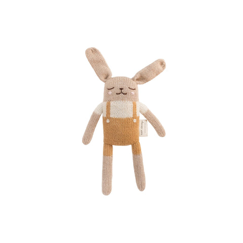 Small Knitted Bunny Ochre by Main Sauvage, available at Bobby Rabbit.