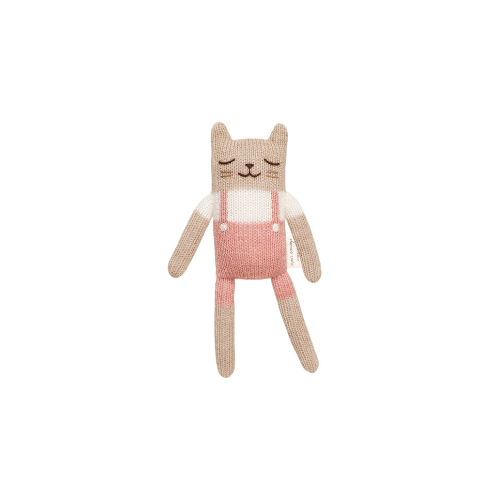 Small Knitted Kitten Rose by Main Sauvage, available at Bobby Rabbit.