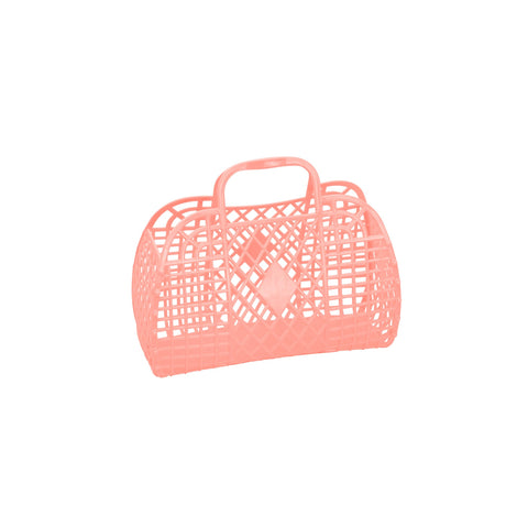 Small Peach Retro Basket by Sun Jellies, perfect for storing away those little treasures! Available at Bobby Rabbit.