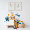 Bedside Table, Toys and Accessories, styled by Bobby Rabbit.