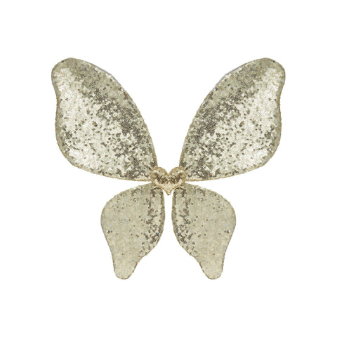 Gold Sparkle Sequin Wings Wand dressing up accessory by Mimi and Lula, available at Bobby Rabbit.