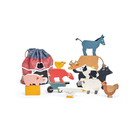 Stacking Farmyard Wooden Toy by Tender Leaf Toys, available at Bobby Rabbit.