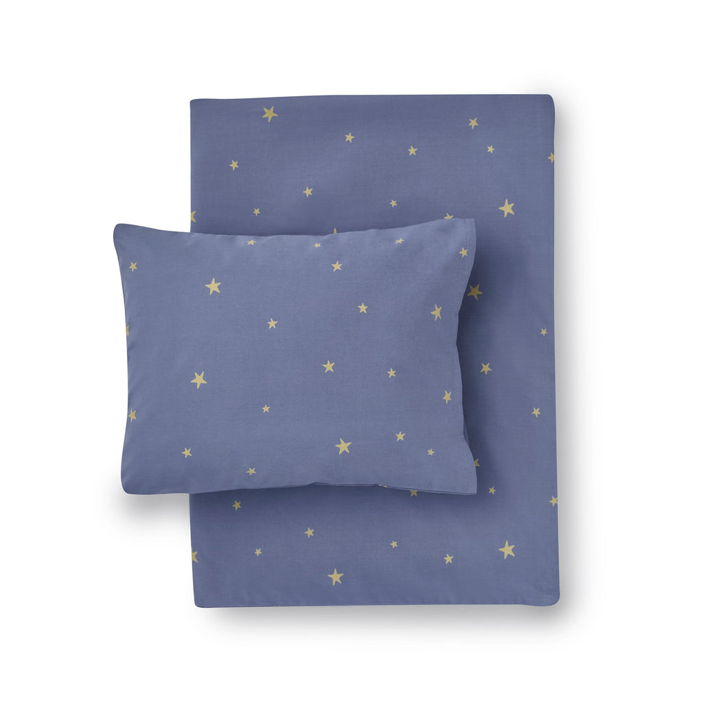 Starry Sky Bed Linen Set - Indigo by Hibou Home, available at Bobby Rabbit.