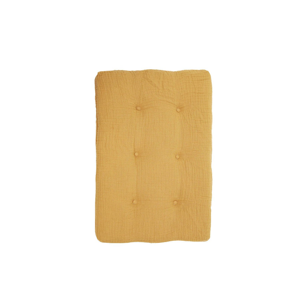 Mustard Yellow Strolley Dolls Pram Mattress by Olli Ella, available at Bobby Rabbit.