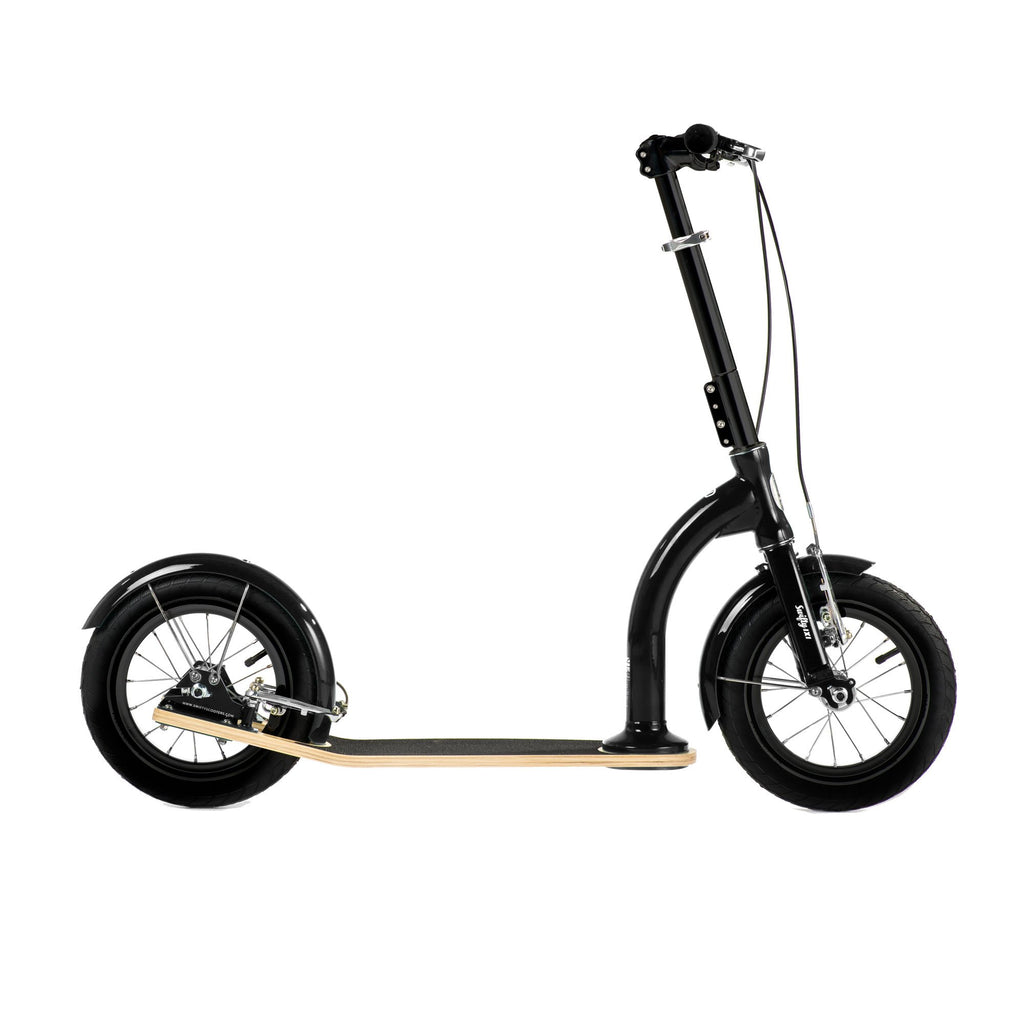 SwiftyIXI Children's Scooter in classic black, available at Bobby Rabbit.
