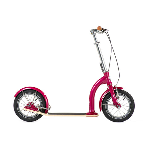 SwiftyIXI Children's Scooter in raspberry, available at Bobby Rabbit.