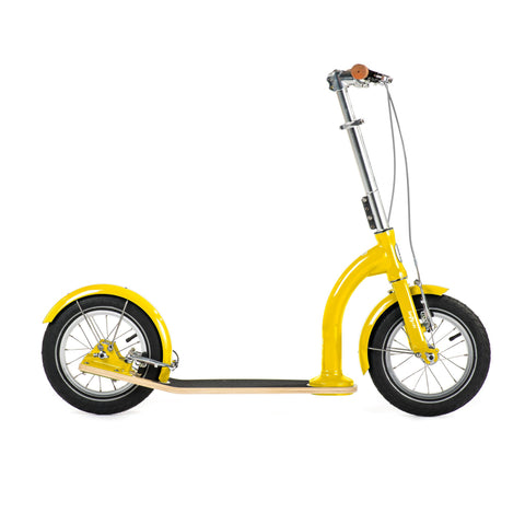 SwiftyIXI Children's Scooter in sunrise yellow, available at Bobby Rabbit.