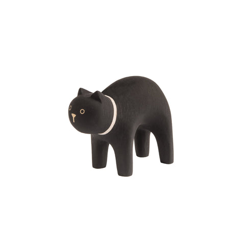 T-Lab 'Pole Pole' Wooden Black Cat, available at Bobby Rabbit.