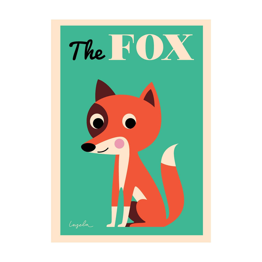 The Fox poster for children's rooms, designed by Ingela P. Arrhenius for OMM Design and available at Bobby Rabbit.