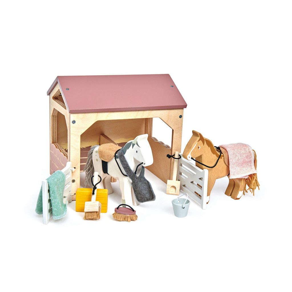 The Stables in our Wooden Toy collection, by Tender Leaf Toys available at Bobby Rabbit