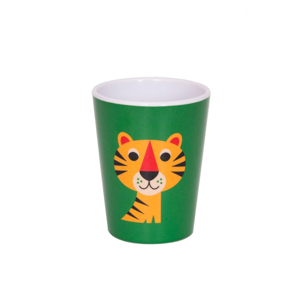 Melamine Tiger Cup, designed by Ingela P. Arrhenius for OMM Design and available at Bobby Rabbit.