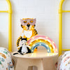 Tiger Lamp, Rainbow Lamp and Superhero Toys and Dress Up Sets, styled by Bobby Rabbit.