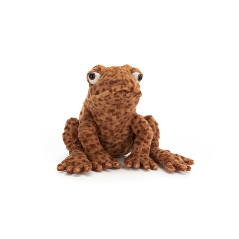 Toby Toad Soft Toy, designed and made by Jellycat and available at Bobby Rabbit.