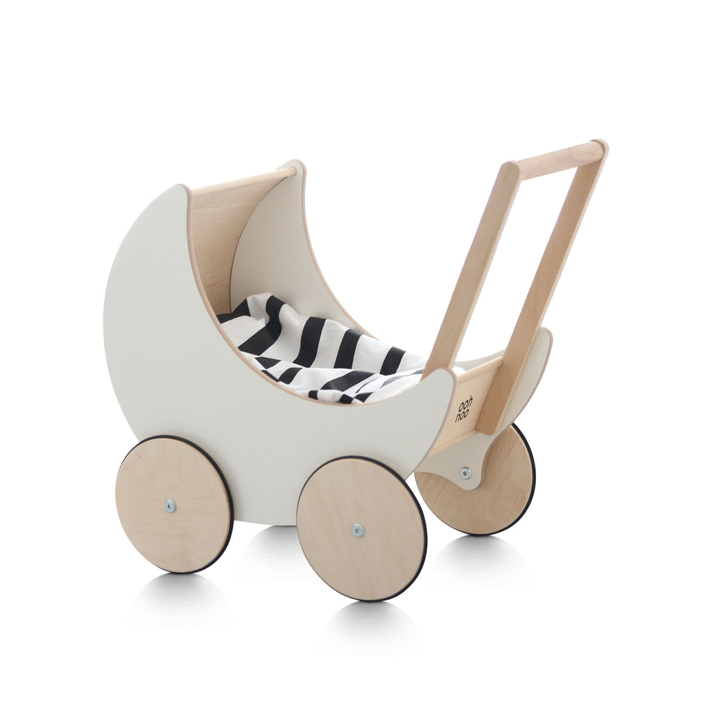 Toy Pram by Ooh Noo, available at Bobby Rabbit.