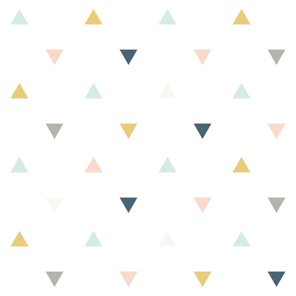 Triangles Wallpaper by Lilipinso, available at Bobby Rabbit.