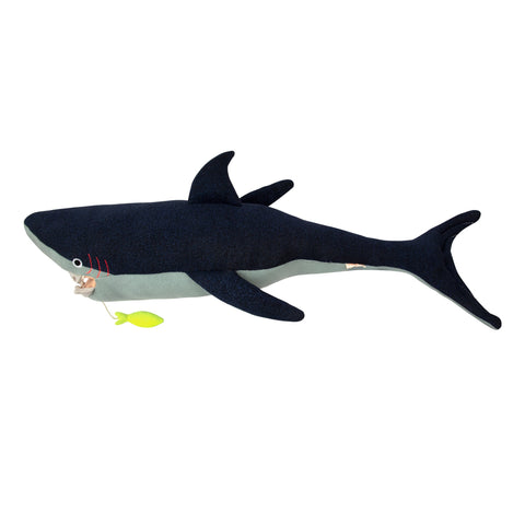 Vinnie Shark toy cushion by Meri Meri, available at Bobby Rabbit.