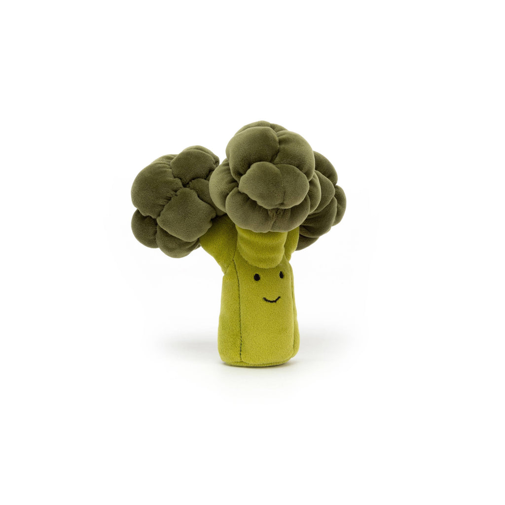 Vivacious Vegetable - Broccoli Soft Toy, designed and made by Jellycat and available at Bobby Rabbit.