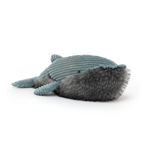 Wiley Whale Soft Toy, designed and made by Jellycat and available at Bobby Rabbit.
