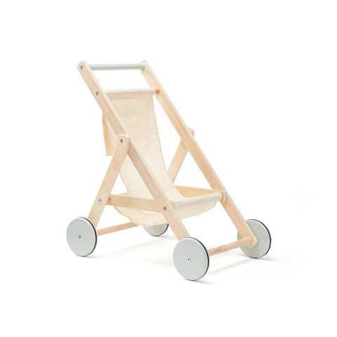Wooden Dolls Stroller by Kids Concept, available at Bobby Rabbit.