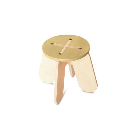 Wooden Play Stool - Khaki - by Babai Toys, available at Bobby Rabbit.