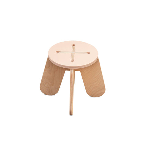Wooden Play Stool - Pink - by Babai Toys, available at Bobby Rabbit.