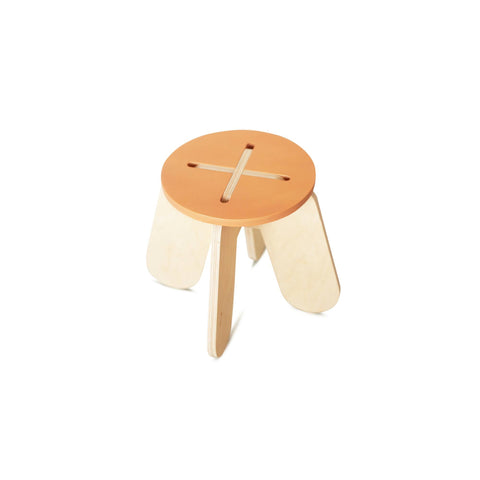 Wooden Play Stool - Terracotta - by Babai Toys, available at Bobby Rabbit.