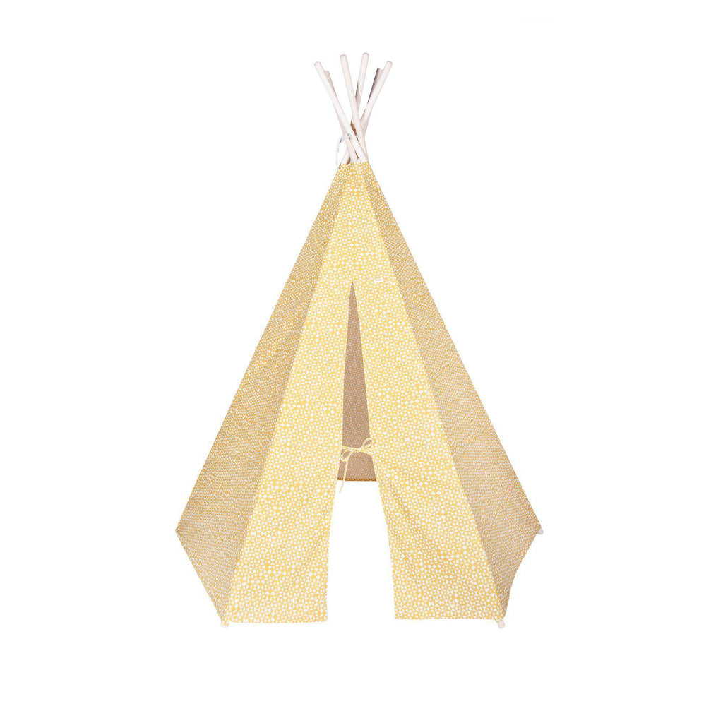 Yellow Geometric Teepee Tent by Trixie, available at Bobby Rabbit.