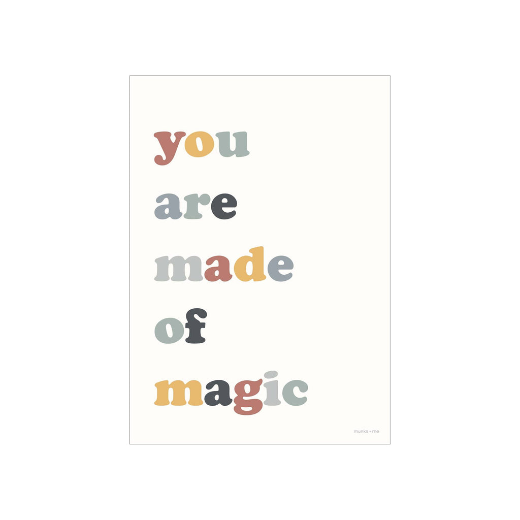 You Are Made Of Magic A3 Print by Munks and Me, available at Bobby Rabbit.