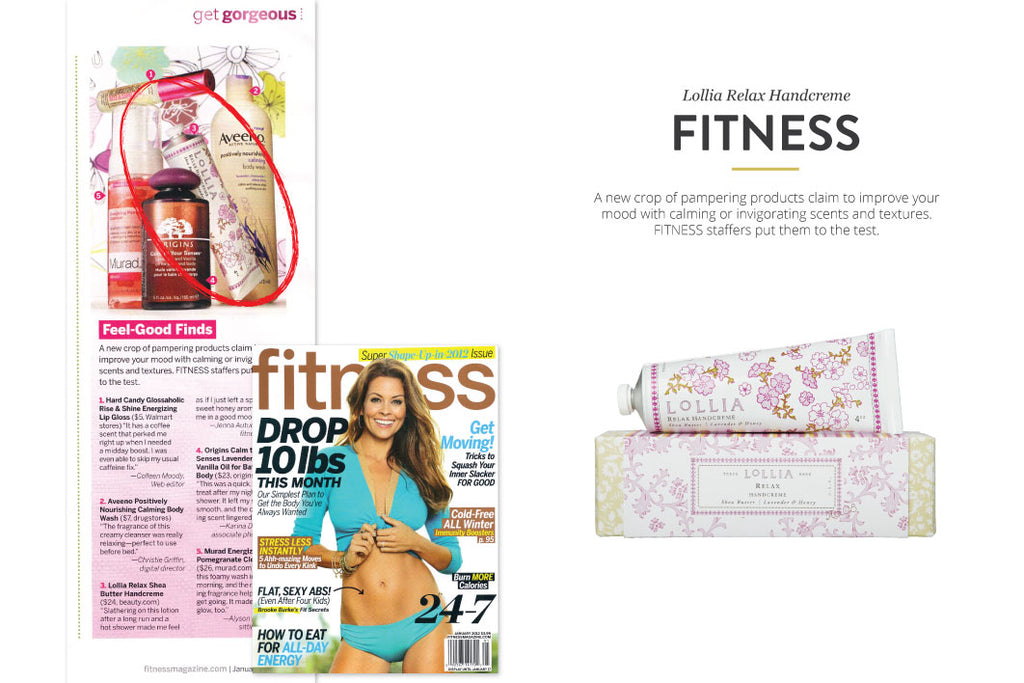 Fitness Magazine featuring Lollia Relax Handcreme