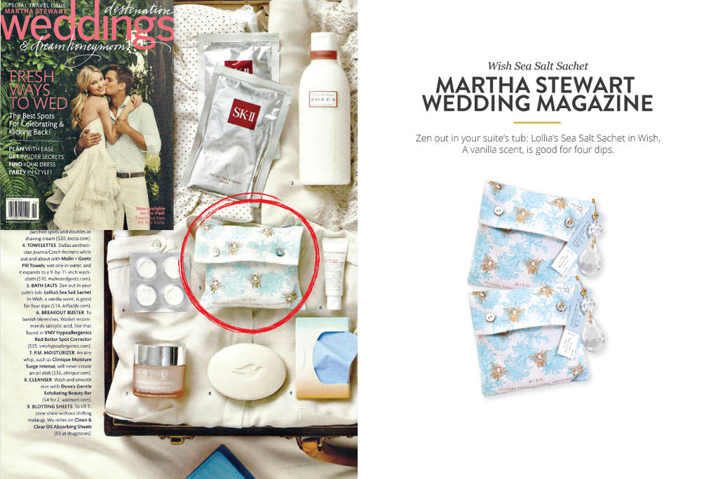 Martha Stewart Magazine featuring Wish Sea Salt Sachet