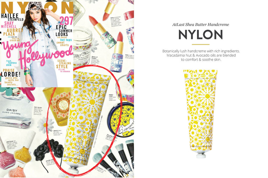 NYLON Magazine featuring At Last Shea Butter Handcreme
