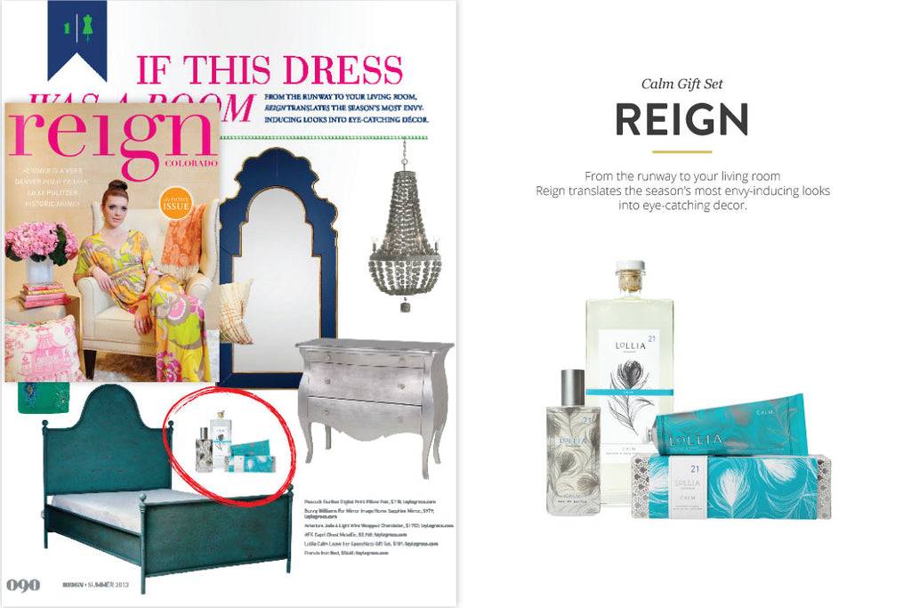 Reign Magazine featuring Calm Gift Set